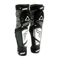 Наколенники с защитой голени и колена LEATT KNEE & SHIN GUARD 3DF HYBRID EXT BLACK/WHITE