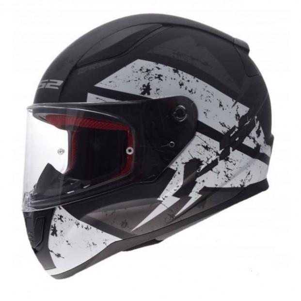 Шлем LS2 FF353 Rapid Deadbolt Matt Black White