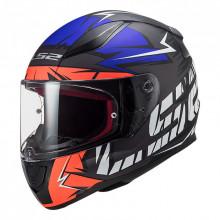 Шлем LS2 FF353 Rapid Cromo Matt Fluo Orange Blue