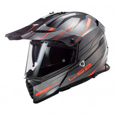 Шлем LS2 MX436 Pioneer Evo Knight Titanium Fluo Orange