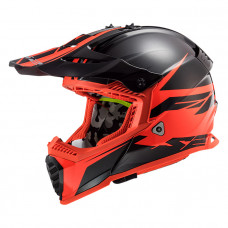 Шлем LS2 MX437 Fast Evo Roar Matt Black Red
