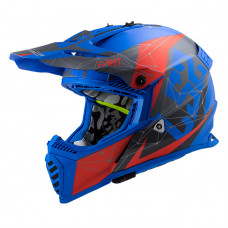 Шлем LS2 MX437 Fast Evo Alpha Matt Blue