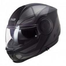 Шлем модуляр LS2 ff902 SCOPE Axis Black Titanium