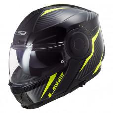 Шлем модуляр LS2 FF902 Scope Skid Black H-V Yellow