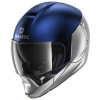 Шлем модуляр Shark EVOJET DUAL Blank Mat Silver/Blue/Silver