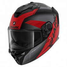 Шлем Shark Spartan GT Elgen Matt Black Anthracite Red