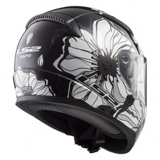 Шлем LS2 FF353 Rapid Poppies Black White