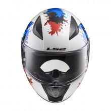 Шлем детский LS2 FF353J RAPID MINI MONSTER White Blue