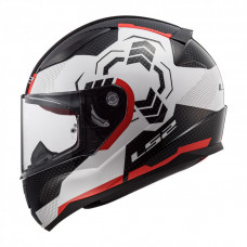 Шлем LS2 FF353 Rapid Ghost White Black Red