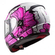 Шлем LS2 FF353 Rapid Poppies White Pink