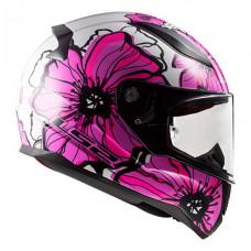 Шлем LS2 FF353 Rapid Poppies White Pink