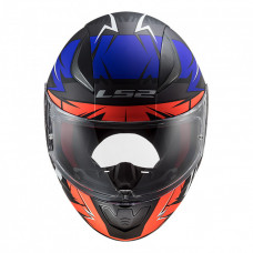 Шлем LS2 FF353 Rapid Cromo Matt Fluo Orange Blue
