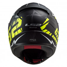 Шлем LS2 FF353 Rapid Naughty Matt Black H-V Yellow