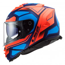 Шлем LS2 FF800 Storm Faster Matt Fluo Orange Blue