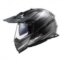 Шлем LS2 MX436 Pioneer Evo Knight Titanium White