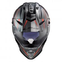 Шлем LS2 MX436 Pioneer Evo Knight Titanium Fluo Orange