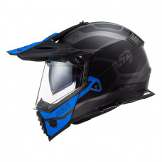 Шлем LS2 MX436 Pioneer Evo Cobra Matt Black Blue