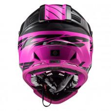 Шлем LS2 MX437 Fast Evo Roar Matt Black Purple