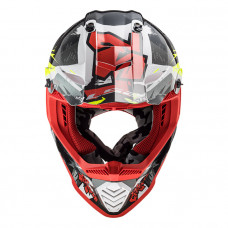 Шлем LS2 MX437 Fast Evo Crusher Black Red