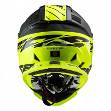 Шлем LS2 MX437 FAST EVO Roar Matt Black HV Yellow